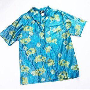 Vintage Street Savy Dragons Asian Teal Polo Shirt